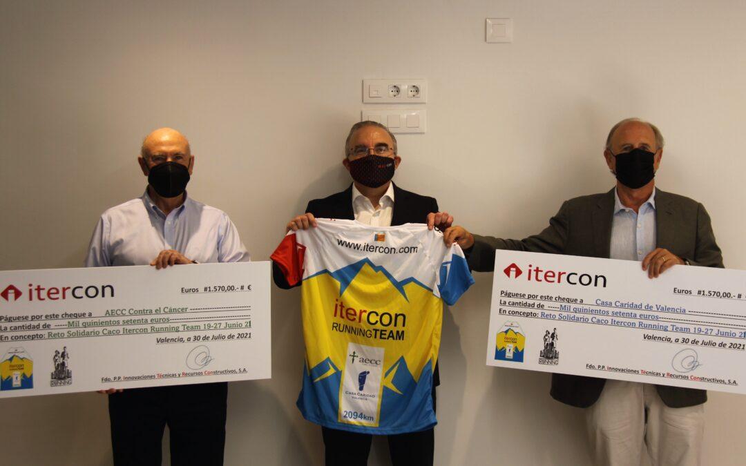 ITERCON recorre más de 2000 kilómetros solidarios en favor de Casa Caridad y AECC